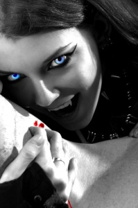 vampire with her friend gothic love photo