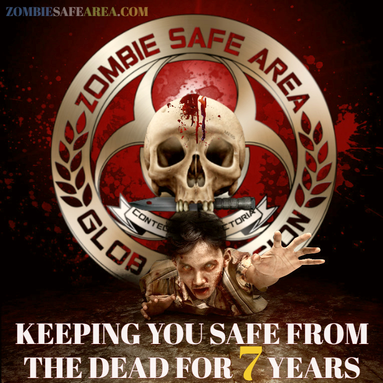 zombie safe area 7 years anniversary poster 2018